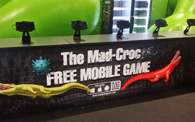 Mad-Croc Mobilegame Stand in gamescom 04.08.2015 build up (F)